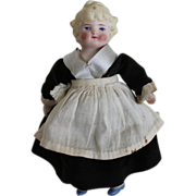 Bisque Dollhouse Maid With Beautiful Blonde Hair
