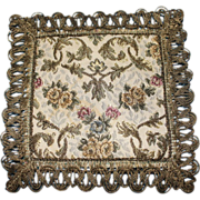 Vintage Square Brocade Dollhouse Rug