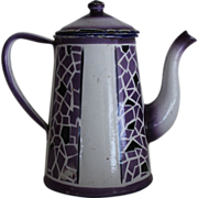 Purple Enamel Graniteware Coffee Pot