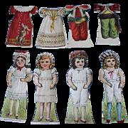 4 Antique Paper Dolls - Nursery Rhymes