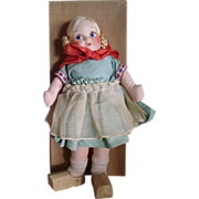 Georgene Novelties Cloth Dutch Doll - Original Box