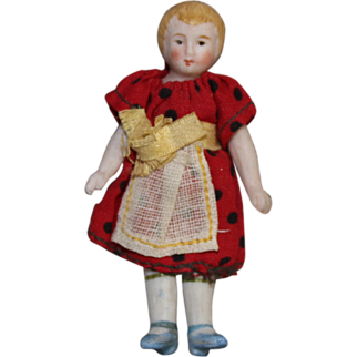 Sweet Minature Bisque Dollhouse Doll