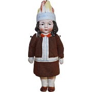 Hertwig German Bisque Indian Doll