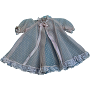 Madame Alexander-kins Wendy Doll Robe - Swiss Dot With Lace