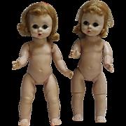 2 Madame Alexander-kins Wendy Dolls - TLC Or Parts