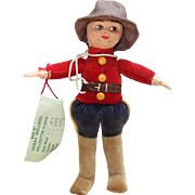 Norah Wellings Cloth Canadian Mountie Doll