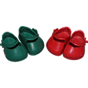 Vintage Vogue Ginny Doll Shoes - 2 Pairs