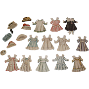 Circa 1910 Lettie Lane Paper Doll Clothes