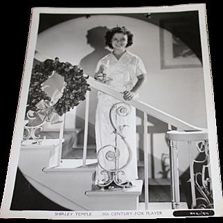1939 Shirley Temple Publicity Photo Still - Christmas Photo