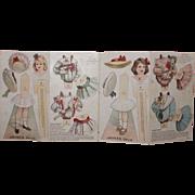Antique Advertising Paper Dolls For Jayne's Tonic Vermifuge