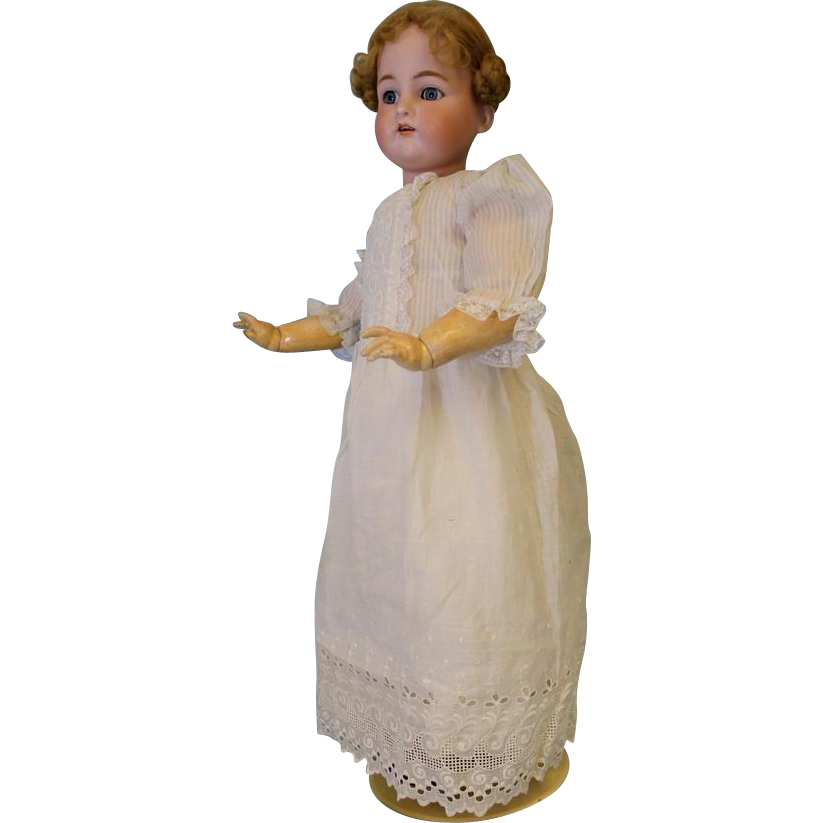 c.1910 LARGE 27.5 inch Antique K star R Simon and Halbig German Bisque Doll Marked 70