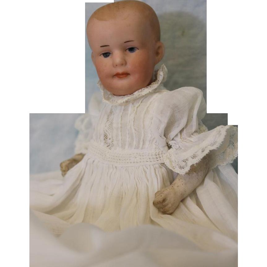 Antique 6.5 inch Petite Cutie Gebruder Heubach Baby Doll Antique Clothes
