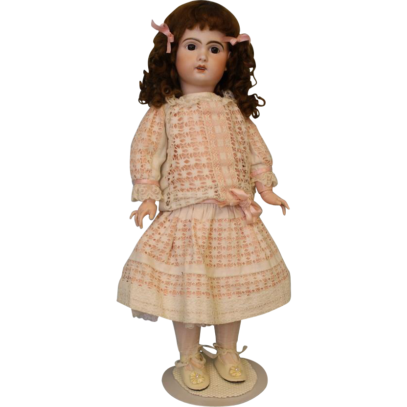 Gorgeous 25 inch 1907 Antique French Bisque Bebe Jumeau Doll Size 10