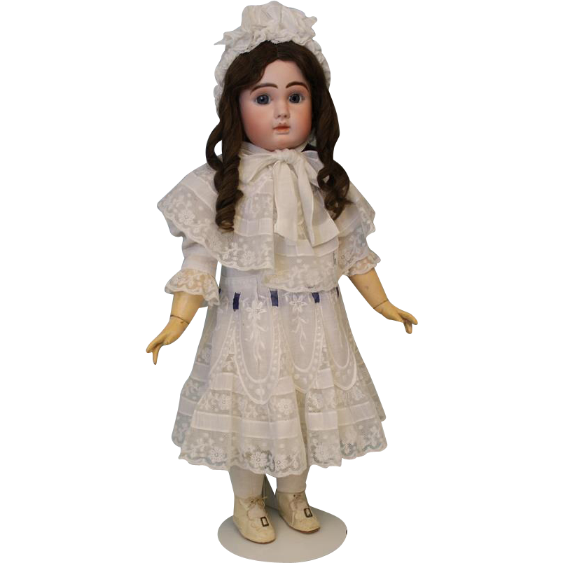28 inch Antique French Bisque Doll, Le Parisien, Fre A 19 by Jules Steiner c.1890