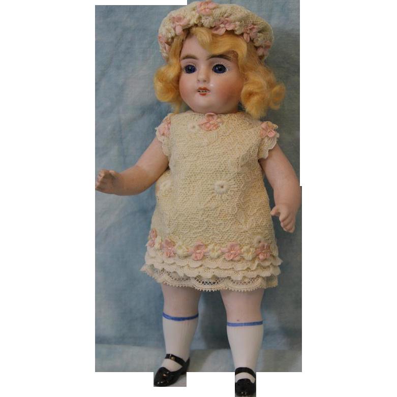 Antique 7.25 inch Strobel and Wilken All Bisque German Doll Marked 251 circa 1910