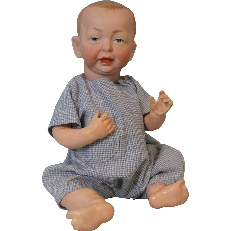 Antique 11 inch K star R Kammer and Reinhardt 100 Kaiser Baby Doll German Bisque Character
