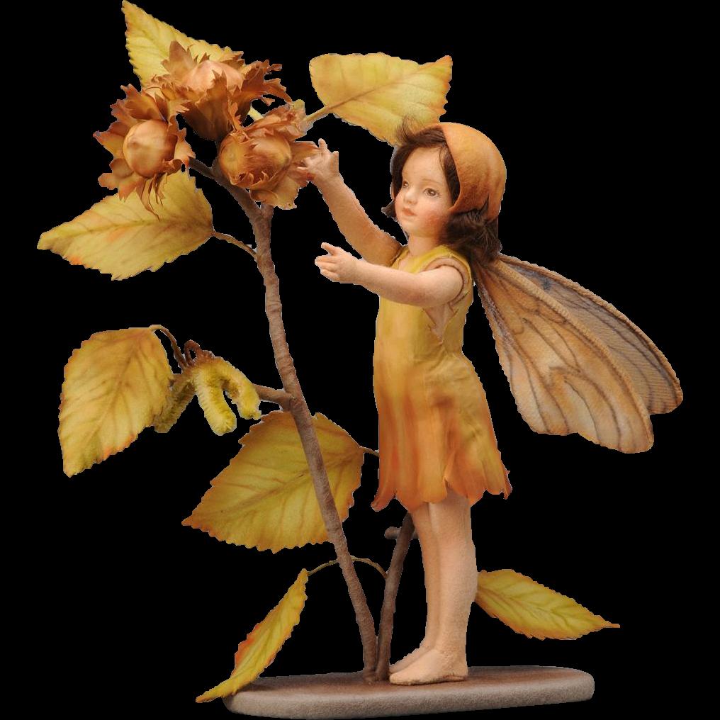 R. John Wright Flower Fairies of the Autumn Doll The Hazel nut Fairy