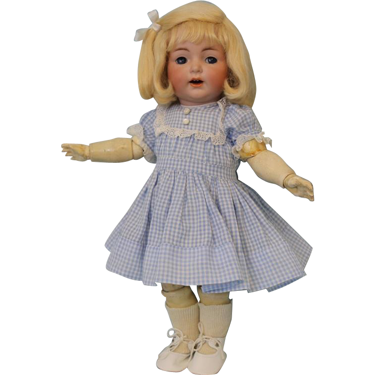 12.5 inch Antique German Bisque K star R Simon Halbig 122 Character Doll Flirty Eyes