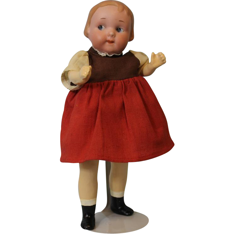 9.5 inch 241 Intaglio Eye Googly Doll By Armand Marseille Molded Hair Open Closed Mouth