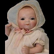 "c.1912 5"" TINY All Bisque Swivel head Bye Lo Baby 6-12 Grace Putnam Sleep Eyes!"