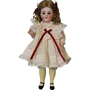 7 inch Antique Marked Heart 513 All Bisque doll by Bruno Schmidt Long YELLOW Socks