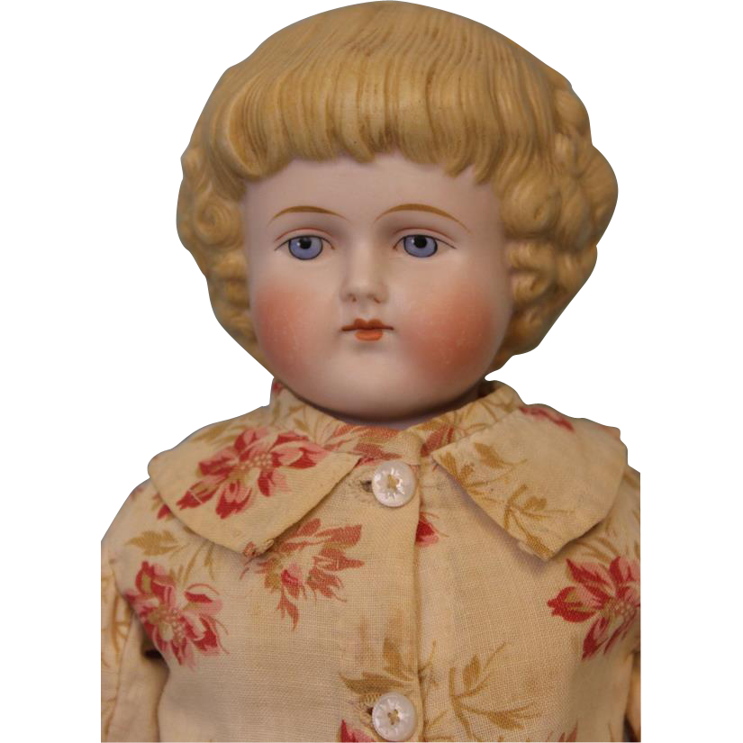 Antique 16.5 inch Alt Beck Gottschalck ABG Bisque Head Parian Doll Antique Kid body