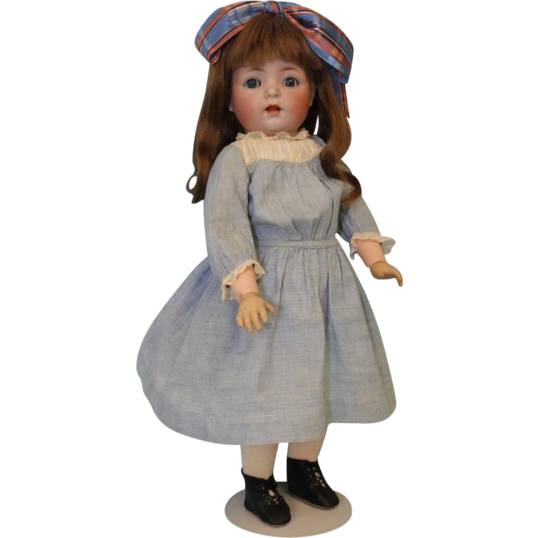 Antique 16.5 inch K star R 121 Simon and Halbig Character German Bisque Doll CUTIE PIE.