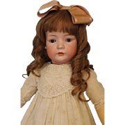 Antique 28.5 inch 2072 German Bisque Closed Mouth Bruno Schmidt doll B. Jtd Body