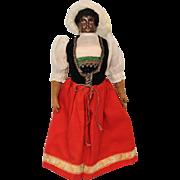 c.1915 13 inch Antique François Gaultier BLACK Bisque French Fashion Doll