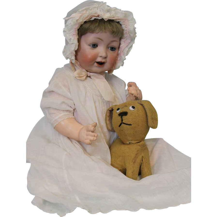 Sweet Antique 19 inch German Bisque Kestner Character 226 Doll Fat Cheeks c.1912