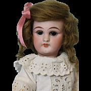 10 inch Antique Simon Halbig German Bisque Doll  number 749 DEP c1890 Cute Eyelet Dress