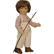 "17"" R John Wright Tad Little Children Series 1 Jtd felt MIB Early Periwinkle tag"