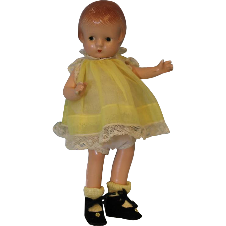9 inch Composition Patsy Patsyette Doll by Effanbee Adorable  c.1930 s