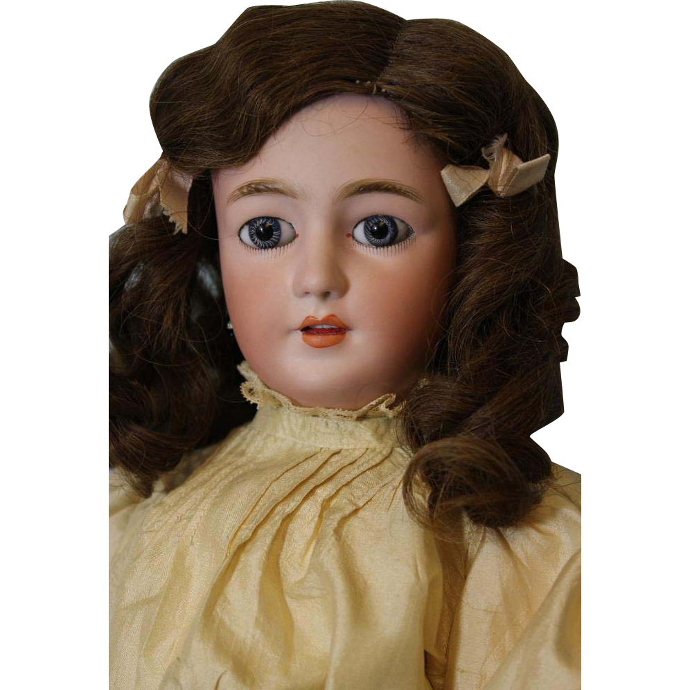 22 inch Antique Simon Halbig Lady Mold number 1159 Lady Body with Molded Bust, Beautiful.