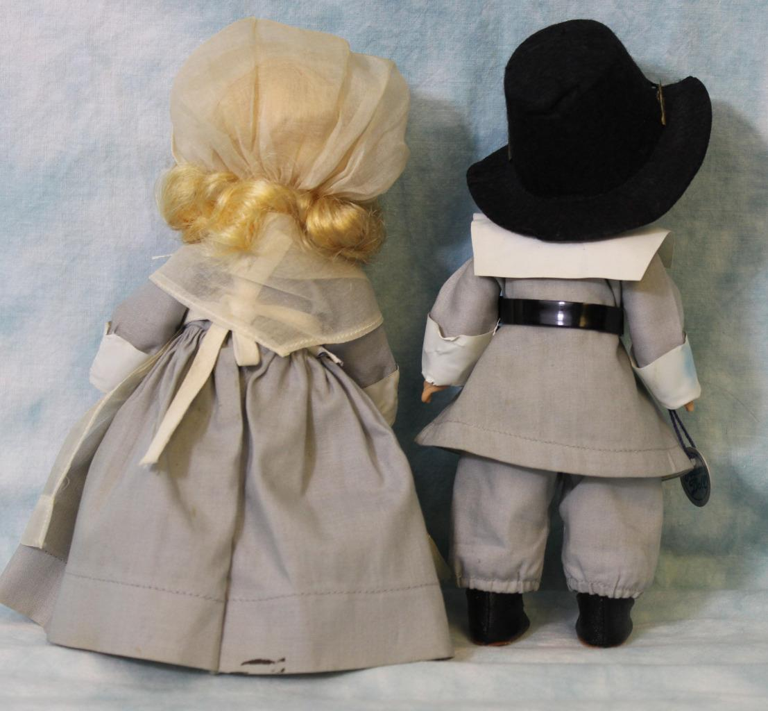 TWO 8 inch Vogue Ginny Doll Pilgrim Priscilla and John Alden, from ...