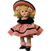 8 inch Painted Lash Ginny Doll  Candy Dandy  series from 1954 Original Costume NICE.
