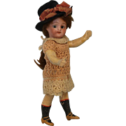 5.5 inch German Mystery Doll with Fabulous Composition Body Molded Socks and Shoes