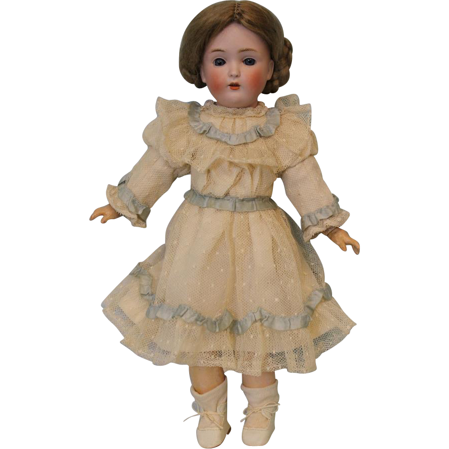 Antique 14 inch 171 Kestner German girl Doll Stamped BJ body beautifully dressed