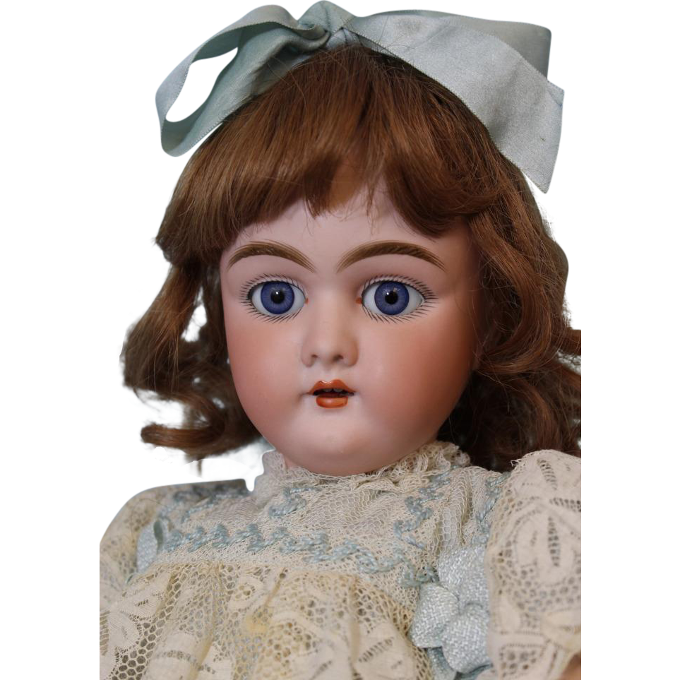 21 inch Antique German Bisque doll Heinrich Handwerck 109 Stamped ball jtd body