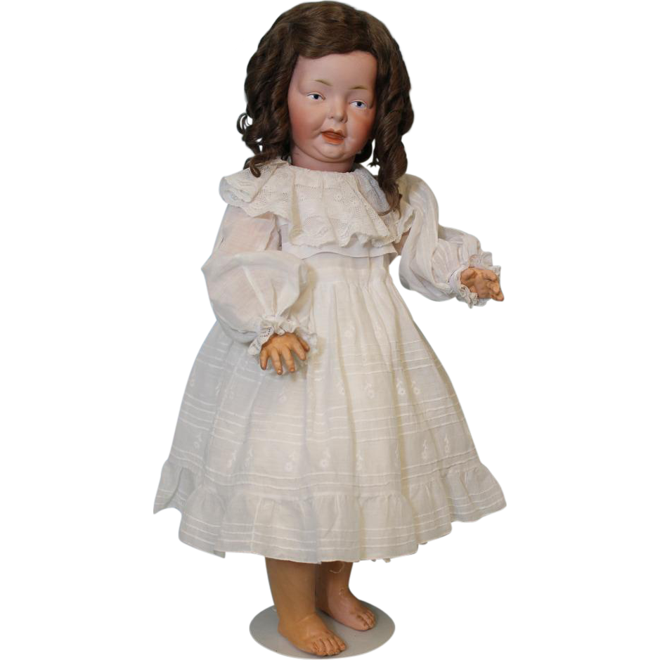 Antique 23.5 inch German Bisque Fritz Bierschenk Toddler Doll F 3 B c1910 Adorable