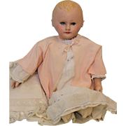 22 inch Antique Martha Chase Cloth Doll Original Paint No Repaint c.1900 Weighted