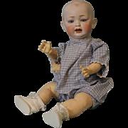 20 inch antique Hertel Schwab 151 solid dome doll 5 pc slant hip toddler Circa 1912