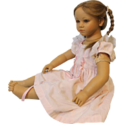 Vintage Annette Himstedt Doll, Fiene, 1990 to 91 Beautiful Art Doll Original Dress!