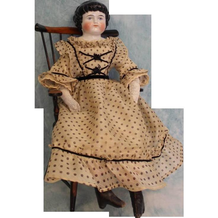 22 inch Antique Alt Beck Gottschalck 1000/9 Highland Mary China doll Original body