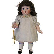 c.1890 HUGE 10 inch All Bisque German Kestner 329 Doll with Molded Socks
