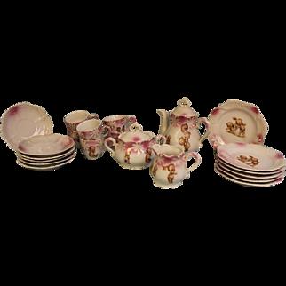 Antique Kewpie Doll Tea Set Rose O'Neill Wilson,Complete Set,Cute action Kewpies