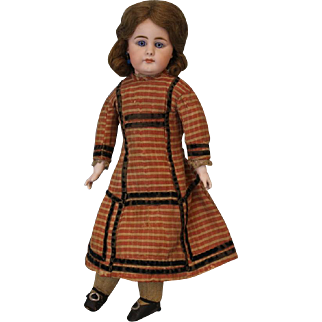 c.1890 17 inch Closed Mouth German Child Simon Halbig 949 German Bisque Doll