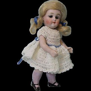 6.5 inch all bisque swivel head 172 German Kestner doll pink stockings Closed M