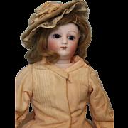 11-1/2 inch Antique Swivel Head French Fashion doll Dressed, Kid Leather Body