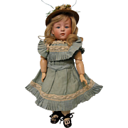 11 Inch Glass Eyed Character Doll 6970 Genruder Heubach Antique Pouty Character